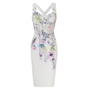 NWT Ted Baker Passion Flower Midi Dress